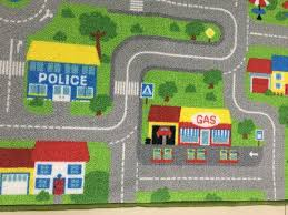 roads maps traffic for playroom decor