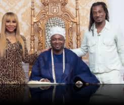 Tamar Braxton visits the Palace of Oba Saheed Elegushi in Lagos ...