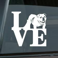 Love English Bulldog Sticker Die Cut Vinyl Park British Car Decal Size Inch 5 50 X 5 50 Car Stickers Aliexpress
