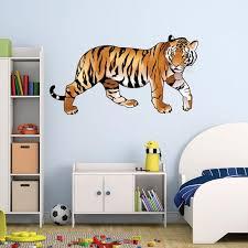 Colorful Tiger Wall Decal By Style Apply Wall Sticker Vinyl Wall Art Home Decor Wall Mural Sd4052 59x31 Walmart Com Walmart Com