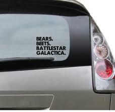 Bears Beets Battlestar Galactica Popular Decal Dwight Etsy