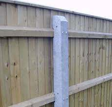 Concrete Intermediate Fence Post 2515 X 140 90 X 120mm Recessed For 3 Rails Avs Fencing Supplies