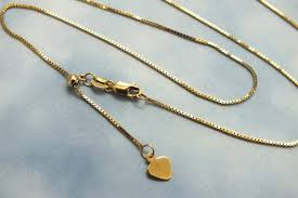 14k solid gold box chain 14k custom