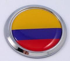 Colombia Colombian Round Flag Car Chrome Decal Emblem Bumper Sticker B Car Chrome Decals