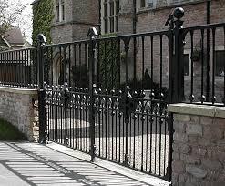 Traditional Wrought Iron Driveway Gates Topp Co Esi External Works