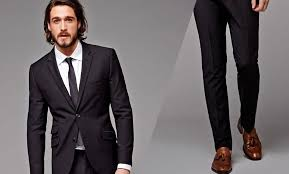 wear brown shoes with a black suit or pants
