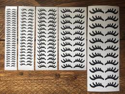 Unicorn Eyelashes Decals Vinyl Stickers Lashes Wall Nail Art Etsy