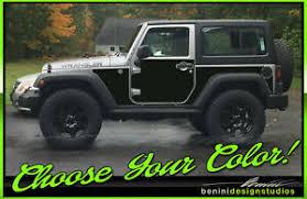 Vinyl Decal Protection Panel Kit Fits 07 18 Jeep Wrangler Jk 2 Door Ebay