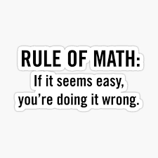Rule Of Math Stickers Redbubble