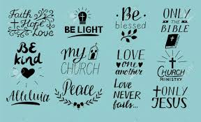 set of hand lettering christian quotes only jesus love one