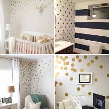 Gold Polka Dots Kids Room Baby Room Wall Stickers Children Home Decor Nursery Wall Decals Wall Stickers For Kids Room Wallpaper Wall Stickers Aliexpress