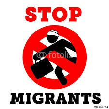 Image result for stop migrants""