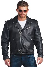 c100 men s cowhide basic biker jacket