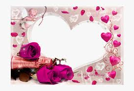 love heart frame valentines day clipart