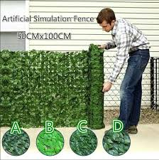 Artificial Faux Ivy Hedge Leaf And Vine Privacy Fence Wall Screen Privacy Hedge Screen Uv Protected Suitable For Outdoor Indoor Garden Fence Backyard And Decor Style 4 Green Wish