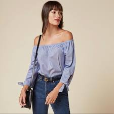 Reformation Tops | Reese Top Off The Shoulder Tie M | Poshmark