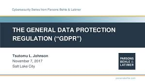 """The General Data Protection Regulation (""""GDPR"""")"""