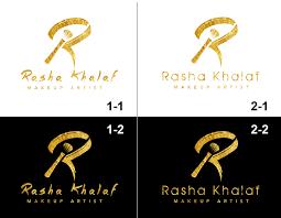 makeup logo design for rasha khalaf