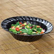 disposable round waved plastic bowls