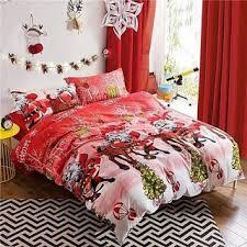 red 4pcs 3d bedding set