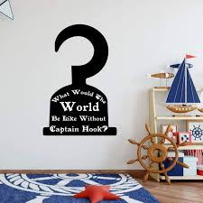 Peter Pan Themed Hook Silhouette Vinyl Decor Wall Decal Customvinyldecor Com