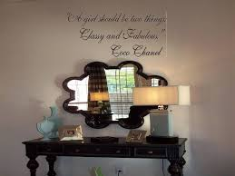 Coco Chanel A Girl Should Be Two Things Classy And Fabulous Wall Decal Touch Of Beauty Designs Custom Wall Decals