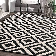 black and white rugs com