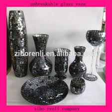 unbreakable glass vase 1 color black