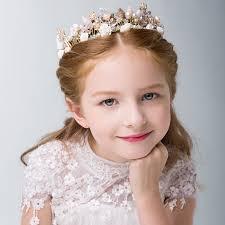 Daughter of The Sea Kids Head Wear Korean Style Princess Tiara Shell Fahion Tiara  Little Girls Flower Wedding Bridesmaid Crown|Hair Accessories| - AliExpress