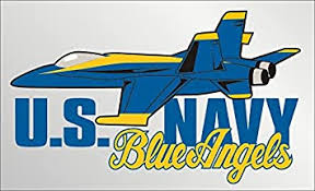 Amazon Com United States Navy Blue Angels Car Decal Us Navy Gifts Military Products Automotive