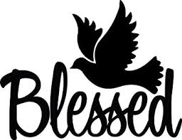 Amazon Com Tgs Topshop Blessed Dove Decal Christian God Jesus Religious Window Bumper Sticker Car Decor Car Stickers 15cm Kitchen Dining