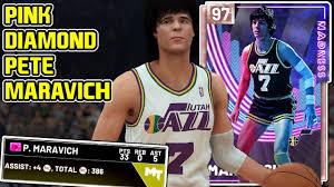 PINK DIAMOND PETE MARAVICH! THIS CARD HAS THE SAUCE! NBA 2k19 MyTEAM -  YouTube