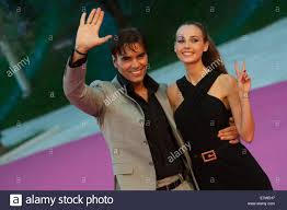 Massimiliano Morra and Adua del Vesco on the Pink carpet. Final Stock Photo  - Alamy