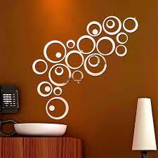 Mew 24pcs Set Circles Mirror Wall Stickers Mirror Removable Decal Vinyl Art Mural Wall Sticker Home Decoration Adesivo De Parede