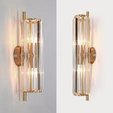 luxurious gold wall light flute shape 2