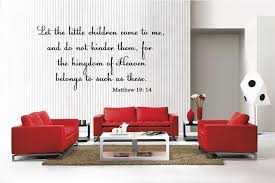 Amazon Com Newclew Bible Quote Christian Matthew 19 14 Removable Vinyl Wall Decal Home Decor Large Home Kitchen