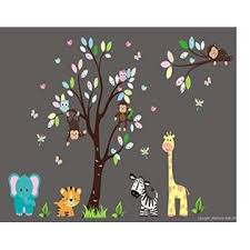 Nursery Wall Decals Baby Boy S Nursery Decals Kids Room Wall Stickers Zoo Animal Wall Decals Wildlife Wall Decals Nature Themed Nursery