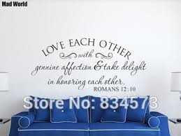 Love Each Other With Genuine Affection Scripture Wall Art Stickers Wall Decals Home Diy Decoration Removable Decor Wall Stickers Lelah Terfare35
