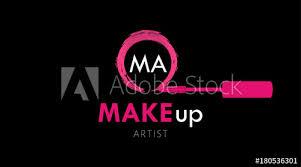 logo template pink maa brush