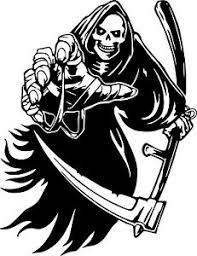 Grim Reaper Scythe Skeleton Skull Wall Car Truck Window Vinyl Sticker Decal 6 Ebay