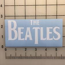 The Beatles 5 White Vinyl Decal Sticker Bogo For Sale Online