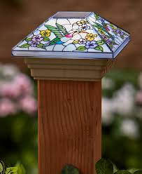 Stained Glass Solar Post Cap Lights Ltd Commodities