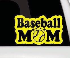 Baseball Mom Bumper Sticker Baseball Mom Vinyl Decal Etsy