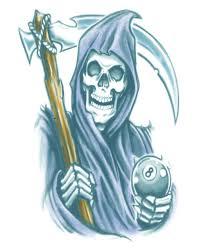 tattoo grim reaper as halloween makeup