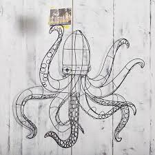 black wire octopus wall decor