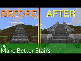 How To Build Better Stairs In Minecraft Youtube