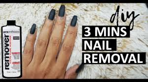how to remove fake nails at home in 3
