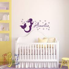 Buy Mermaid Wall Decal Girl Name Decals Vinyl Stickers Girl Nursery Wall Decal Personalized Name Mermaid Girls Kids Baby Room Wall Decor M070 In Cheap Price On Alibaba Com