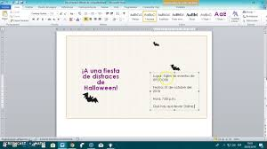 Como Hacer Invitaciones En Word Youtube