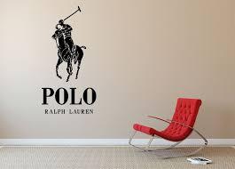Ralph Lauren Polo Logo Clothing Line Wall Decal Vinyl Decor Sticker Wall Art Sticker Wall Art Vinyl Wall Decals Vinyl Decor